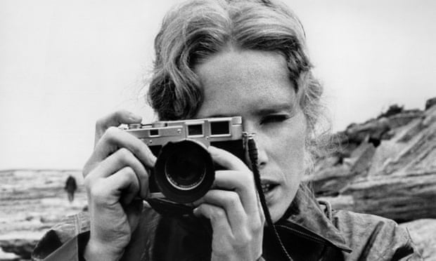 Liv Ullmann portrait with camera